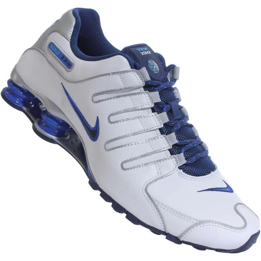 tenis nike shox azul e branco soap