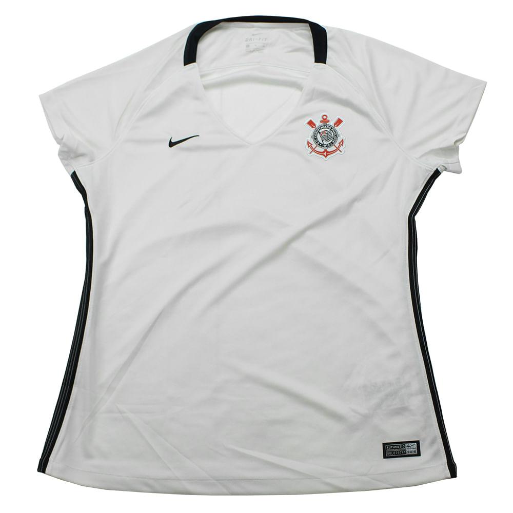 e1224a89b1 Camiseta Feminina Nike Corinthians Home - Rogers Tenis