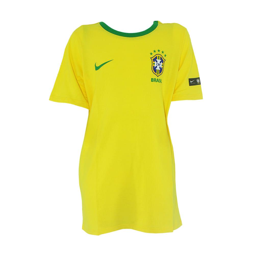 020c118890 Camisa Infantil Nike Brasil 2018 CBF - Rogers Tenis