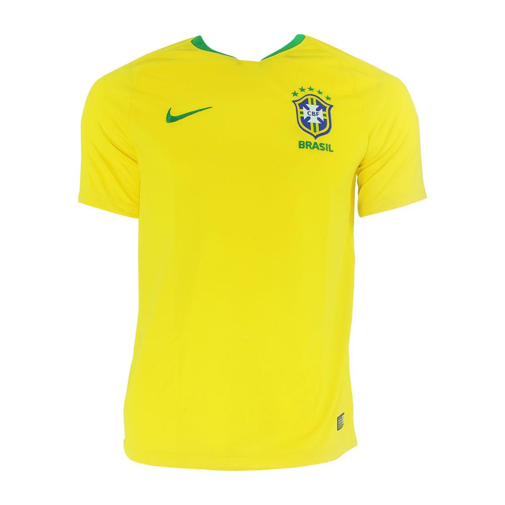 7b97db9686 Camisa Nike Brasil I 2018 - Rogers Tenis