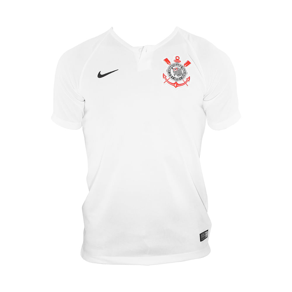 Camisa Infantil Nike Corinthians I - Rogers Tenis e338cddf3d4b8