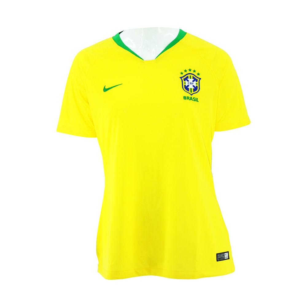 53613ac1e2 Camiseta Feminina Nike Brasil I - Rogers Tenis