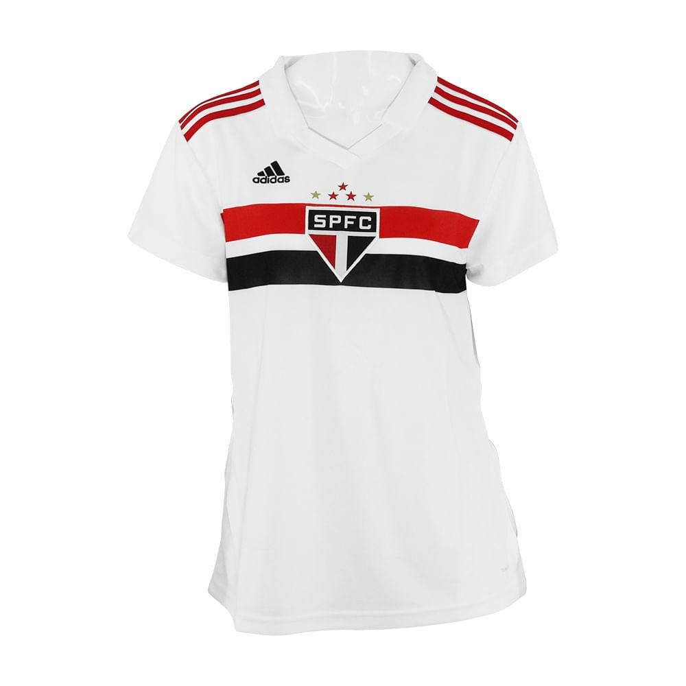 e78c6bdff6 Camisa Feminina Adidas São Paulo 1 - Rogers Tenis