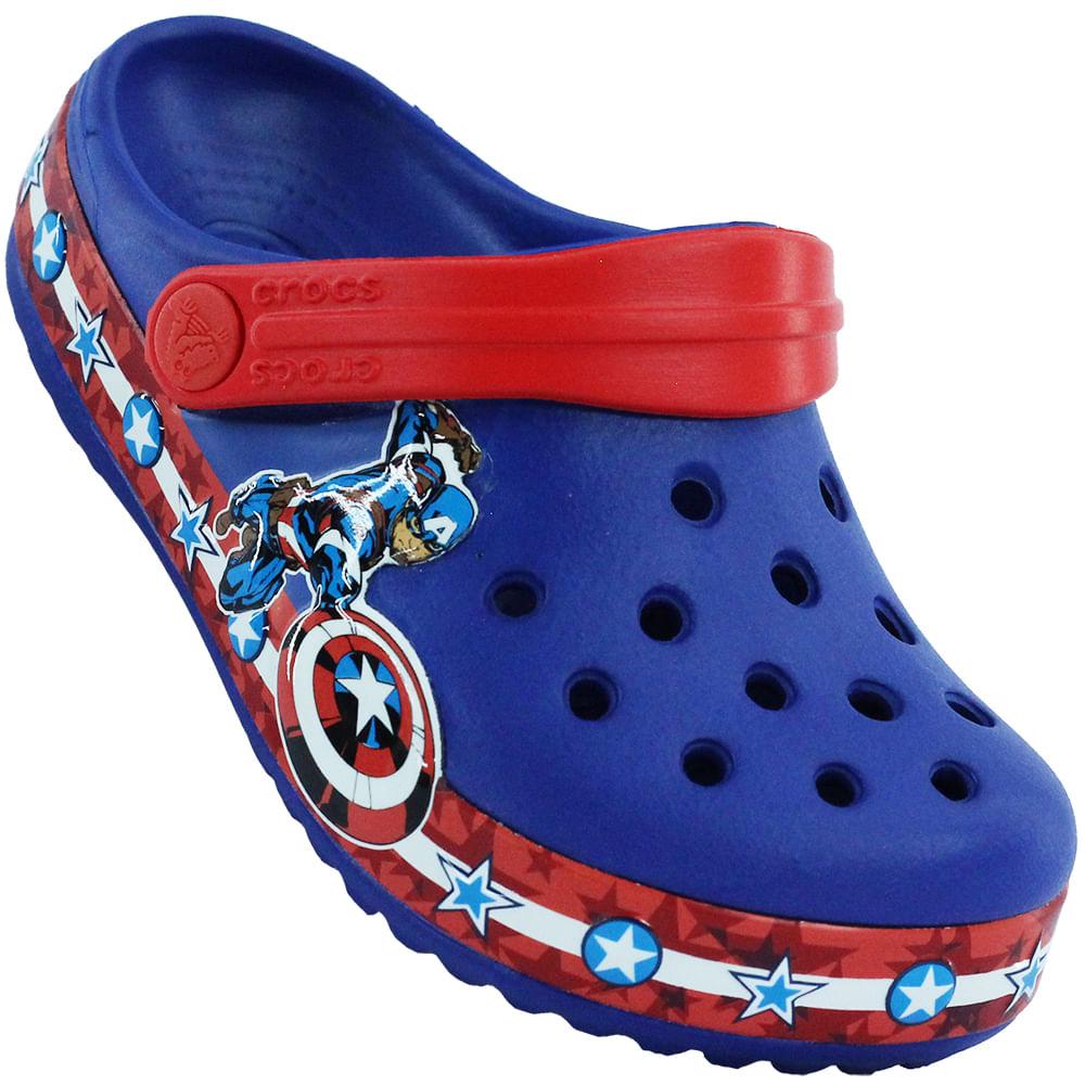 20c5b536ff Sandália Infantil Crocs Captain America - Rogers Tenis
