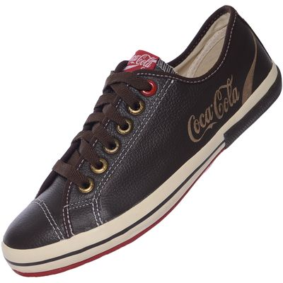 TENIS COCA COLA WEST LEATHER CC0771701 38 MARROM